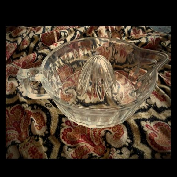Vintage Other - Vintage Glass Juice Reamer/Juicer